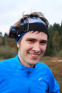 Øyvind Raen tester utkameraet før gubbeløpet