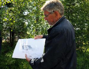 Utbygger viser tegninger
