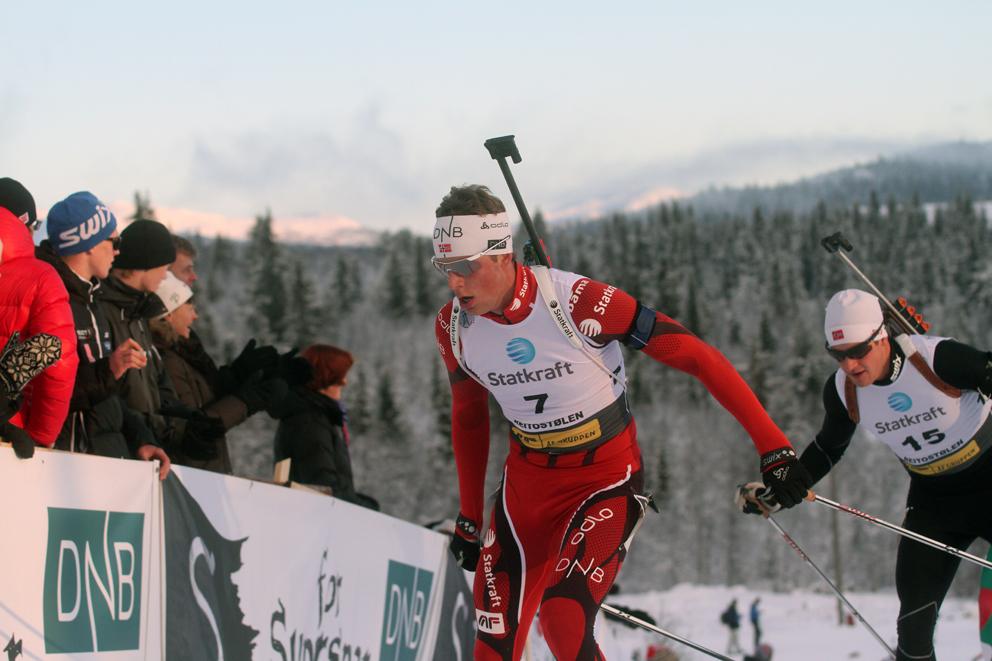 IMPONERTE IGJEN: I tillegg til at han har fått et ekstra gir i sporet imponerte Lars Helge Birkeland nok en gang på standplass da han gikk Norge opp fra sjette til sølvplass i søndagens mixstafett i svenske Østersund. (ARKIVFOTO)