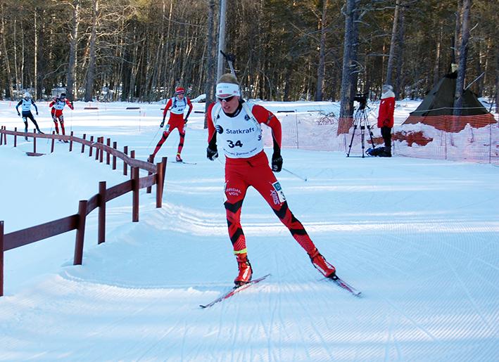 BESTE BORKIS: Lars Aasheim Svalands 8. plass ble beste NM-resultat til birkenesingene under junior-NM i fellesstart og mix-stafett på Østre Toten i helga. (ARKIVFOTO)