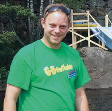 FESTIVALSJEF: Per Arne Botn på Sandøyra hvor «Ta sjansen» og gratiskonserten med Jace Everett vil finne sted. Festivalområdet på Fiane befinner seg et par kilometers rolig gummibåttur unna. Bildet er tatt i forkant av forrige festival, i 2013.