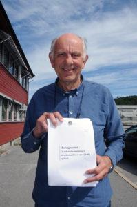 HAR PRESSET PÅ: – Forslaget er spilt inn fra flere, men vi har pressa på for dette i seks år, og da er det hyggelig at det er kommet så langt at det er lagd et høringsnotat som skal ut til kommunene, sier Høyres ordførerkandidat Gunnar Høygilt om forslaget til endring i grunnlaget for beregning av eiendomsskatt på verker og bruk. Høygilt har selv tatt opp saken med Høyres næringspolitiske talsmann Svein Flåtten, stortingsrepresentant Svein Harberg og statsminister Erna Solberg.