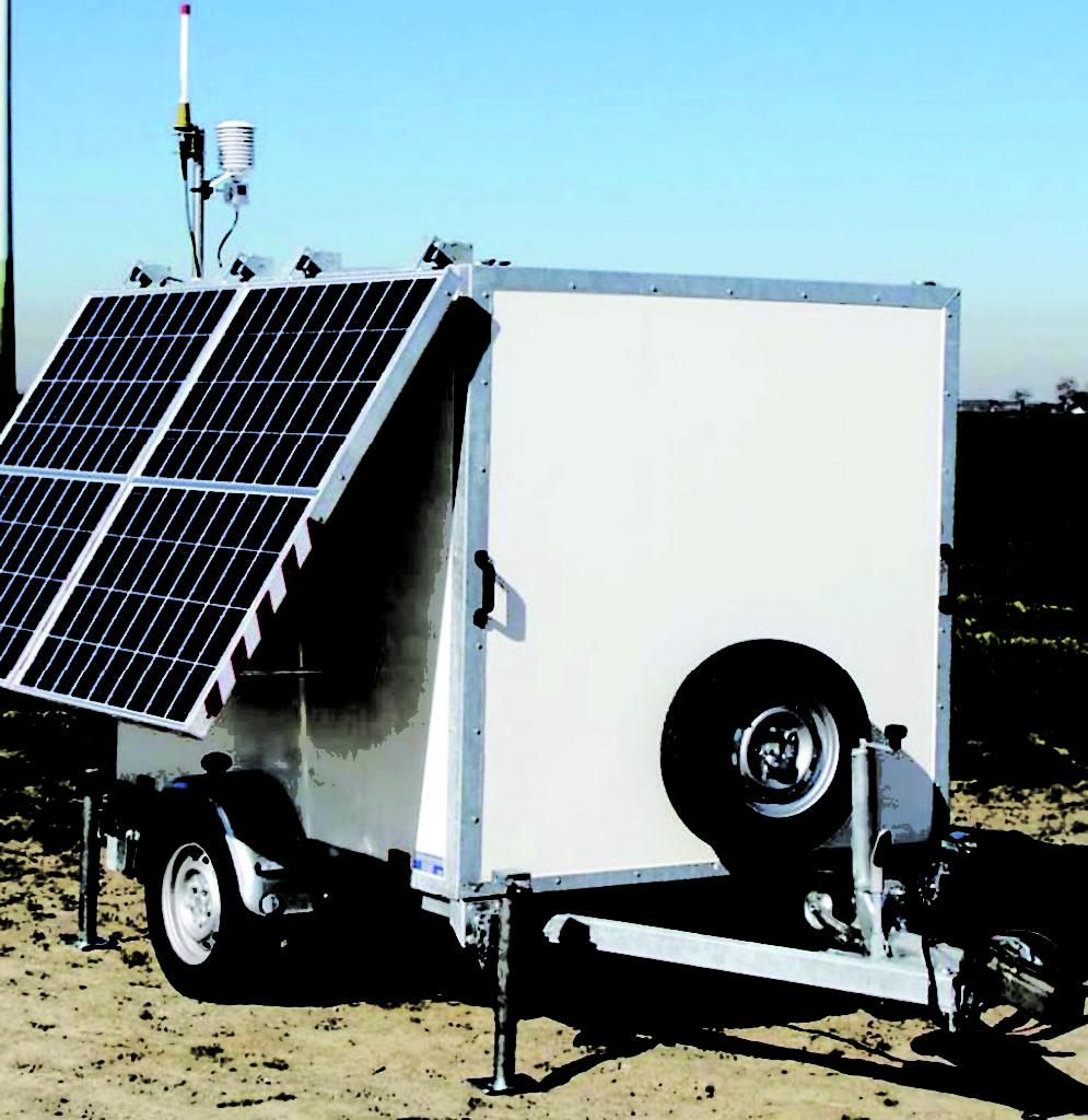 SLIK: Kraftselskapet har lagt ved dette bildet for å illustrere hvordan den mobile vindmåleren ser ut.
