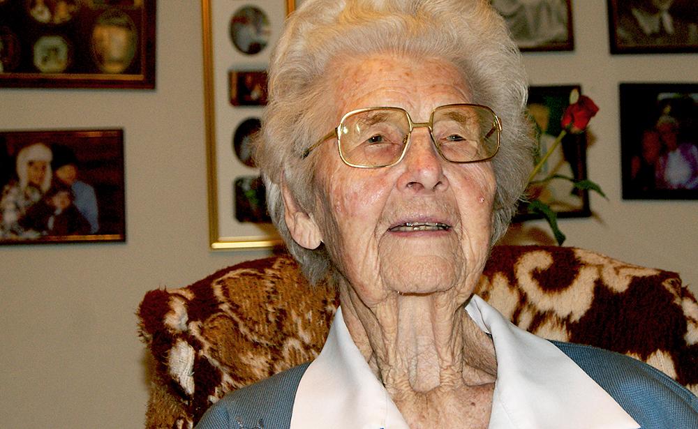 FORTELLER: Marie Vehusheia feirer sin 103. jul i år.  FOTO: Sigbjørn Tveite