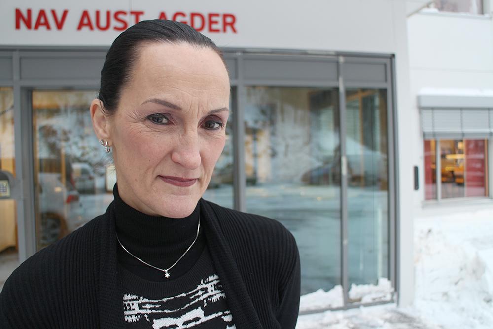 NYE TALL: Direktør Hilde Høynes i NAV Aust-Agder presenterte i dag ferske ledighetstall.