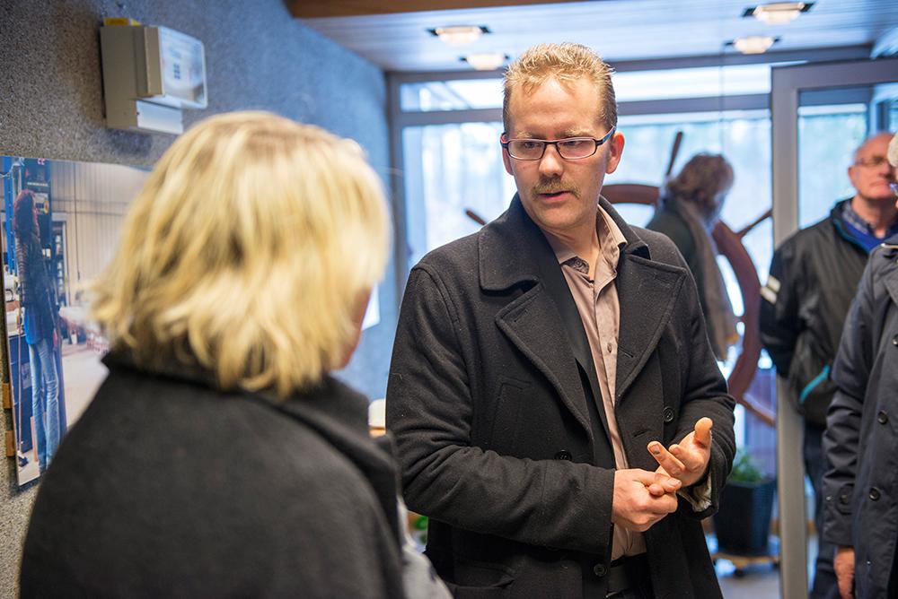 SMARTSKOG: Per Erik Stoveland har planene klare for ny treindustri i Birkenes.