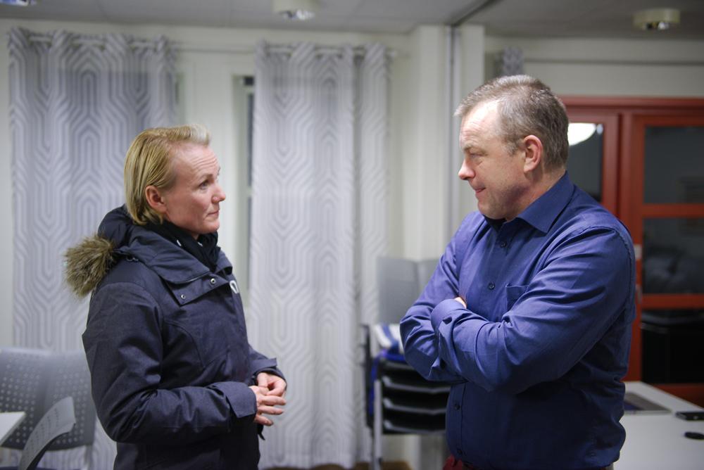 UENIGE: Gruppeleder for Arbeiderpartiet Linda Hye sier nei til Nye Kristiansand, mens ordfører Anders Christiansen fra samme parti sier ja.